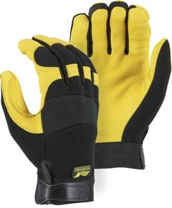 Majestic Glove M Size Deer Skin Mechanical Glove in Black Gold M2150MT01