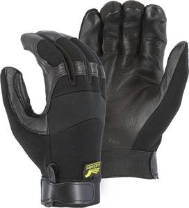 Majestic Glove Medium Deerskin Mechanical Gloves in Black M2151MT01