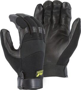 Majestic Glove Size L Deerskin Mechanical Gloves in Black M2151L
