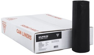 Westcraft HeviTough 24 x 32 in. 16 gal 0.9 mil Can Liner in Black 500-Pack WCL24329KR