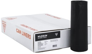 Westcraft HeviTough 30 x 36 in. x 1.1 mil 30 gal Polyethylene Can Liner in Black (Case of 250) WCL303611KR