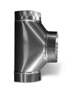 4 in. Duct Tee with Crimp SHMT26PPP