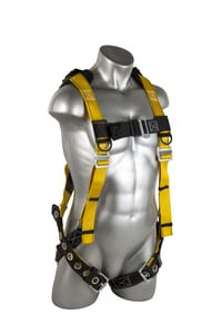 GF Protection Seraph XL/XXL 450 lb. Polyester and Nylon Harness with Galvanized Steel Buckle in Black and Yellow G1116
