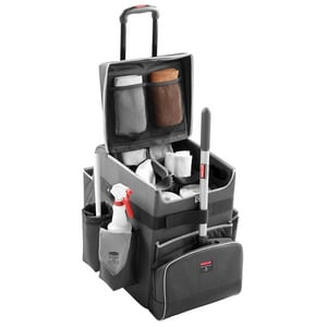 Rubbermaid Quick Cart Large Executive Quick Cart in Dark Grey R1902465