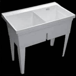 PROFLO® Double Bowl Laundry Sink with Legs Floor Mount PFLT4024