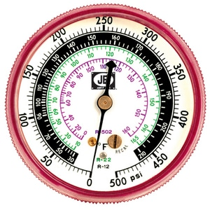 JB Industries 500 psi Pressure Gauge JM2500