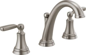 Delta Faucet Woodhurst™ Two Handle Widespread Bathroom Sink Faucet in Brilliance Stainless D3532LFSSMPU
