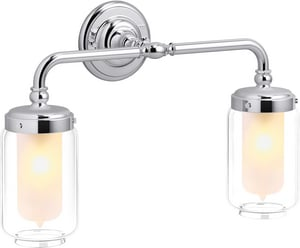 KOHLER Artifacts® 2-Light Medium E-26 Wall Sconce in Polished Chrome K72582-CP