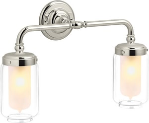 KOHLER Artifacts® 2-Light Medium E-26 Wall Sconce in Vibrant Polished Nickel K72582-SN
