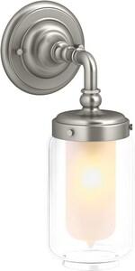KOHLER Artifacts® 1-Light Medium E-26 Wall Sconce in Vibrant Brushed Nickel K72584-BN