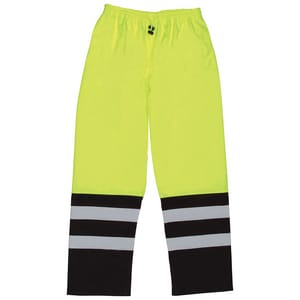 ERB Safety L Size Large Class E Rain Pant in Lime E62108