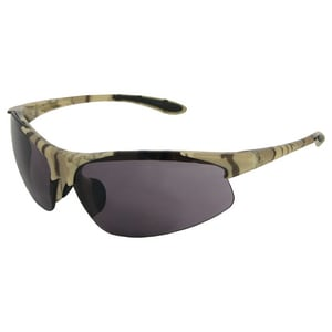 ERB Safety Commandos® 4-1/2 in. Safety Glasses with Camouflage Frame & Smoke Lens E186