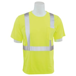 ERB Safety XL Size T-Shirt in Lime E14113