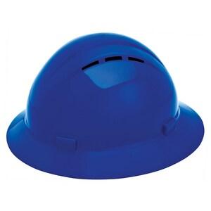ERB Safety Americana Vent Full Brim Safety Helmet with Mega Ratchet in Blue E1943