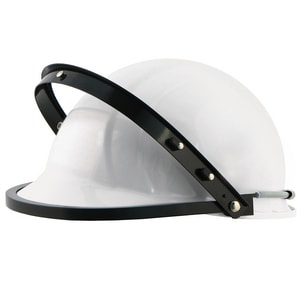 ERB Safety Aluminum Face Shield Cap Style in White E15185