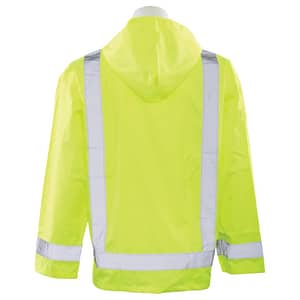ERB Safety XL and 2XL Size Raincoat in Lime E61496