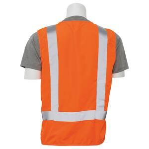 ERB Safety L Size Surveyor and Multi-Pocket Vest in Hi-Viz Orange E61209