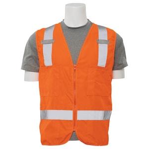 ERB Safety 2XL Size Surveyor and Multi-Pocket Vest in Hi-Viz Orange E61211