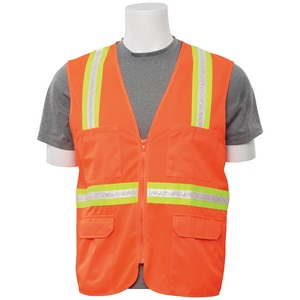 ERB Safety L Size Surveyor Vest in Hi-Viz Orange E61749
