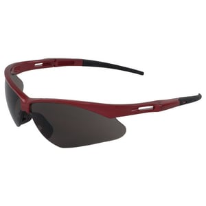 ERB Safety Octane® Safety Glass with Grey Lens and Red Frame E15334