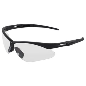 ERB Safety Octane® Polycarbonate Black Frame Safety Glass with Clear and Anti-fog Lens E15325 at Pollardwater