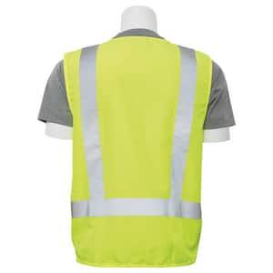 ERB Safety 3XL Size Surveyor and Multi-Pocket Vest in Hi-Viz Lime E61204