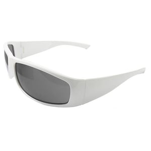 ERB Safety Boas Xtreme Safety Glasses with White frame & Smoke Lens E17928