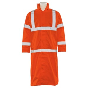 ERB Safety L Size Long Raincoat in Orange E62036 at Pollardwater