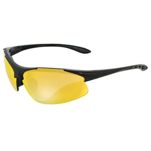 ERB Safety Commandos® Black Frame Polycarbonate Safety Glasses with Sharpshooter Orange Lens E18050