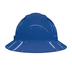 ERB Safety Americana® Vent Full Brim Safety Helmet with Mega Ratchet in Blue E19436 at Pollardwater