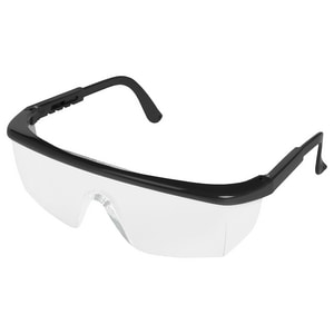ERB Safety Sting-Rays 7 in. Antifog Safety Glasses with Polycarbonate Black Frame and Clear Lens E15237