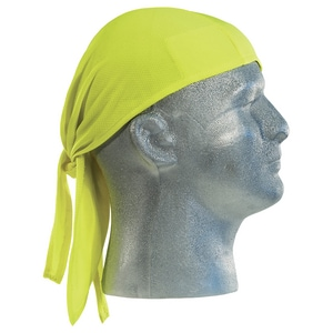 ERB Safety High-Visibility Doo Rag Mesh Knit Cap Headwraps in Lime E6128