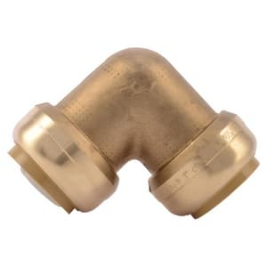Sharkbite 1 in. Push Brass Standard Radius Barbed 90 Degree Elbow SU260LF at Pollardwater