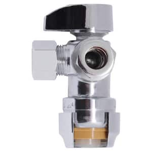 Sharkbite 1/2 x 3/8 in. OD Compression Lever Handle DZR Dual Angle Supply Stop Valve S25558LF