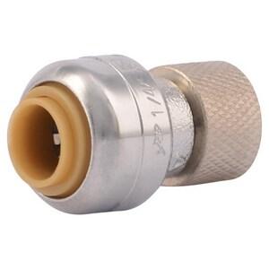 Sharkbite 1/4 x 3/8 in  Push x OD Compression Brass Valve