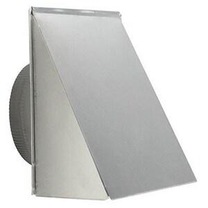 Broan Nutone 12-1/2 in. Aluminum Fresh Air Inlet Wall Cap B643FA
