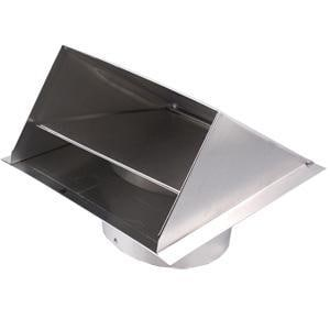 Deflecto 10 x 11 x 8 in. Wall Vent in Silver Aluminum DDAHC8