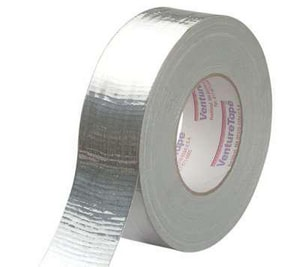 Venture Tape 3 in. x 60 yd. Silver Polyethylene Duct Tape V1502MSI