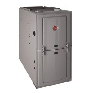Ruud R801P Series 14 in. 50000 BTU 80% AFUE 1 Ton Single-Stage Downflow 1/2 hp Natural or Propane Furnace R801PA050314ZXA