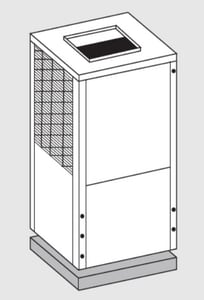 Bosch Thermotechnology EC Series Commercial Heat Pump Condenser BEC1503HZCSLS