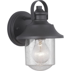 Progress Lighting Weldon 60W 1-Light Medium E-26 Incandescent Outdoor Wall Sconce in Black PP560119031