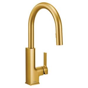Moen Sto™ Single Handle Pull Down Kitchen Faucet in Brushed ...