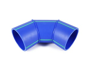 Aquatherm Blue Pipe® 4 in. Butt Weld Straight SDR 17.6 Polypropylene SD 90 Degree Elbow in Blue A74121