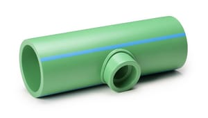 Aquatherm Climatherm® 6 x 6 x 3 in. Socket Weld Reducing SDR 11 Polypropylene Tee in Green A0113603