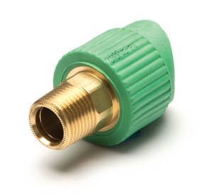 Aquatherm Greenpipe® 4 x 3/4 in. MIP x Fusion Reducing SDR 6 Polypropylene Adapter A0628346