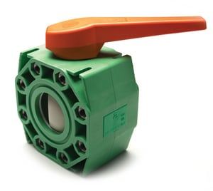 Green Pipe® 3-1/2 in. - 4 in. Polypropylene Flanged Ball Valve A0041804