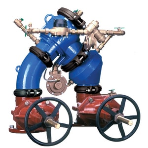 Zurn Wilkins Model 475DA 4 in. Epoxy Coated Ductile Iron Grooved 175 psi Backflow Preventer W475DABG