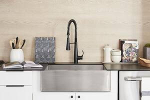KOHLER Simplice® Single Handle Pull Down Kitchen Faucet in Matte Black K22033-BL
