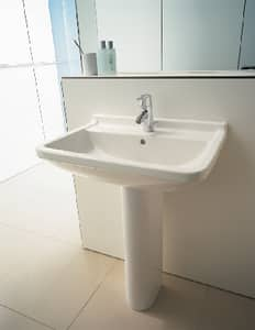 Duravit Starck 3 Wall Mount Bathroom Sink in White Alpin D0300600000