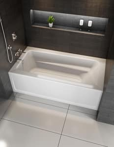 JACUZZI® Signature™ 60 x 36 in. Soaker Alcove Bathtub Right Drain in Oyster JJ1S6036BRXXRSY